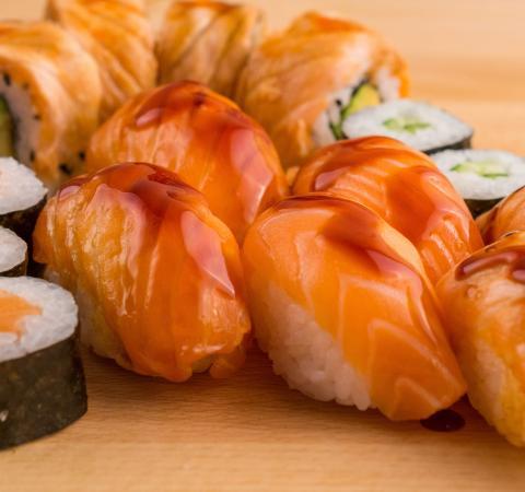 Суши Сьомга-татаки сет