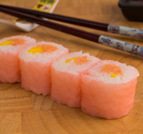 Суши соево хосомаки пушена сьомга и манго